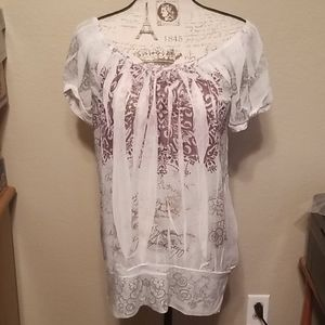 Maurices Sheer Blouse